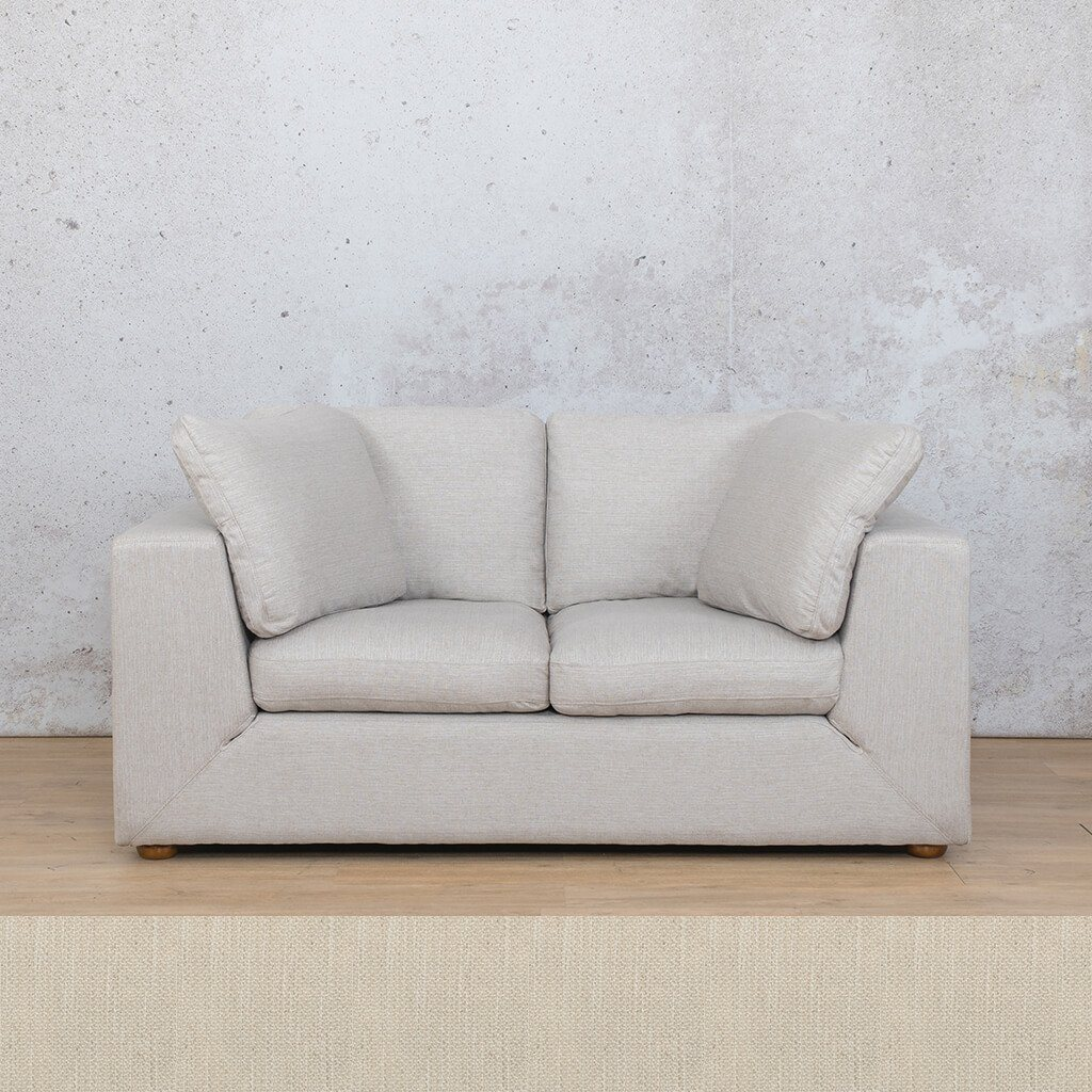 Skye Fabric Corner Couch | 2 Seater Couch | Front Cream | Couches For Sale | Leather Gallery Couches
