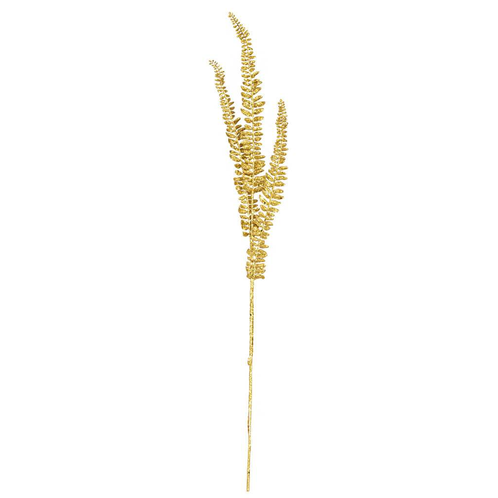 Faux Gold Fern Stem
