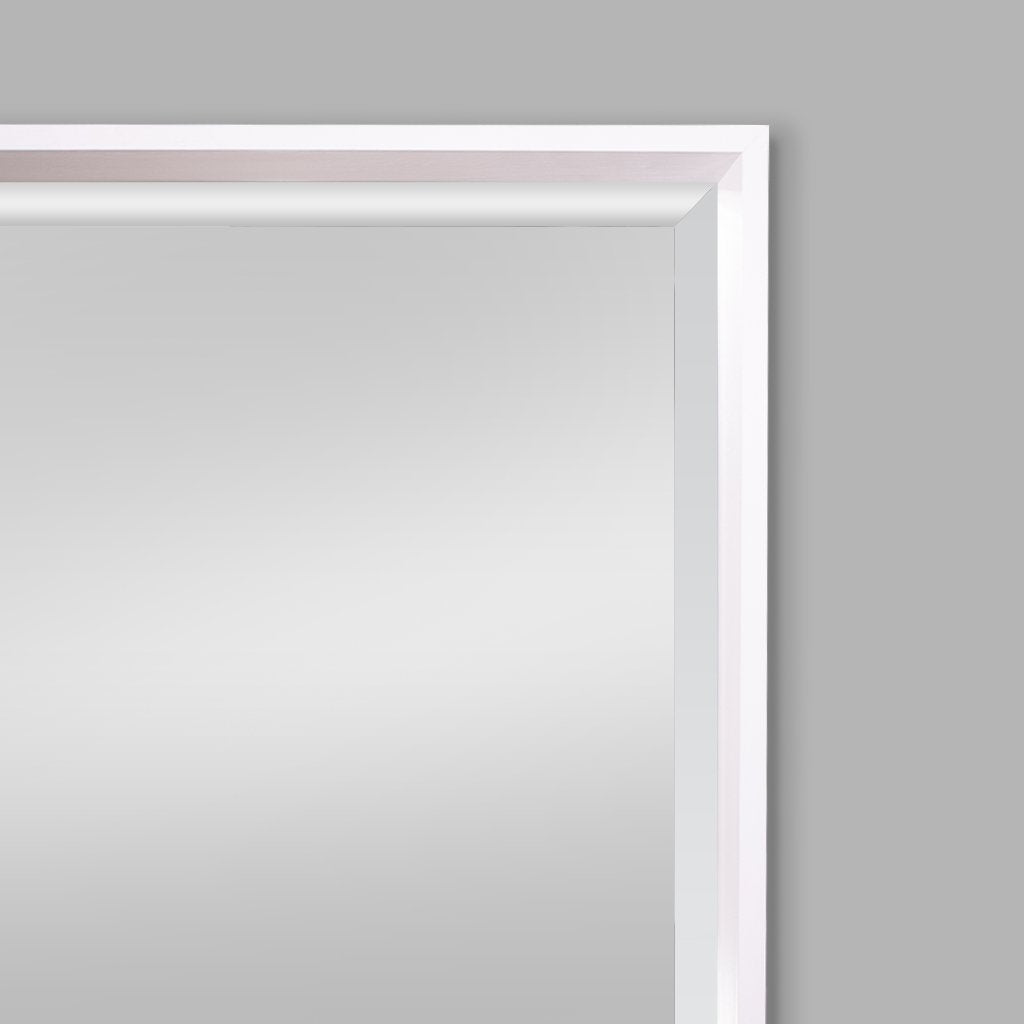 White Nova Natural Wood Mirror