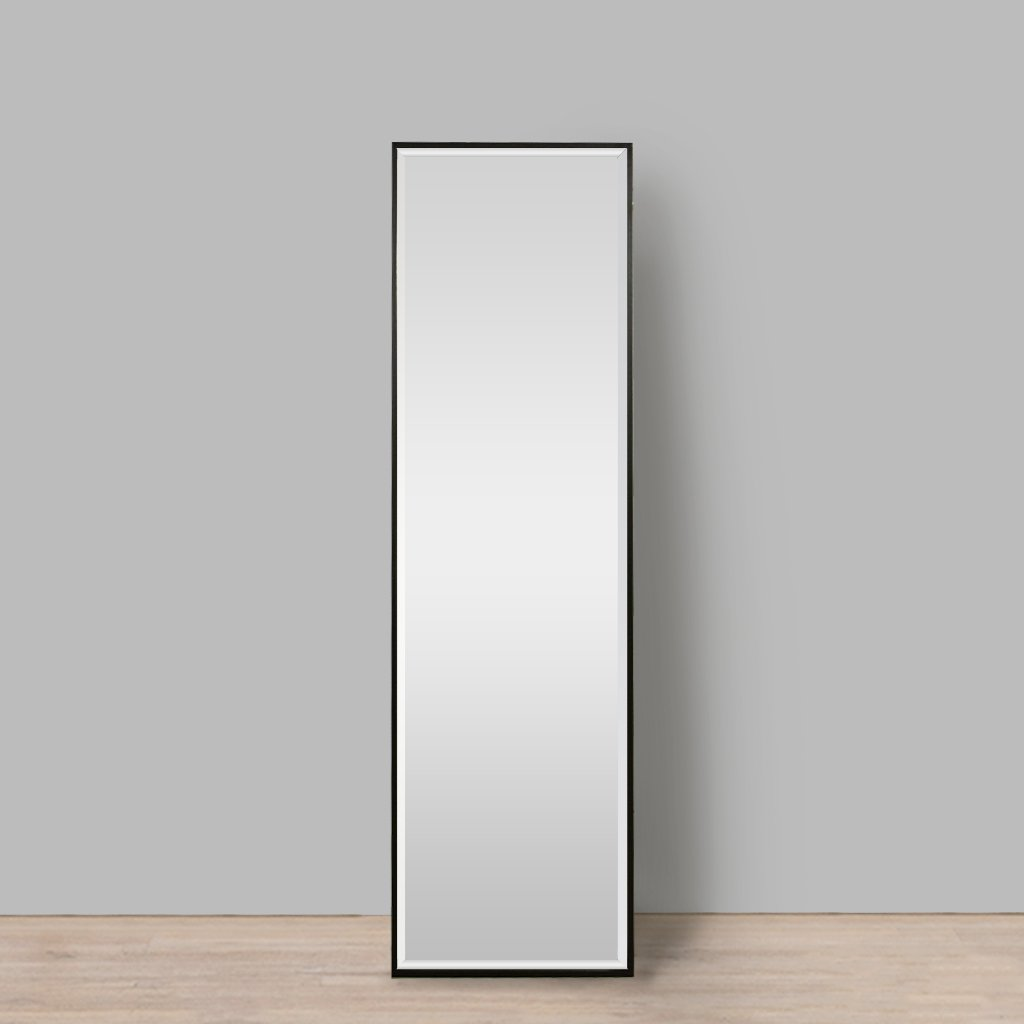 Nova Natural Wood Mirror Black | Leather Gallery