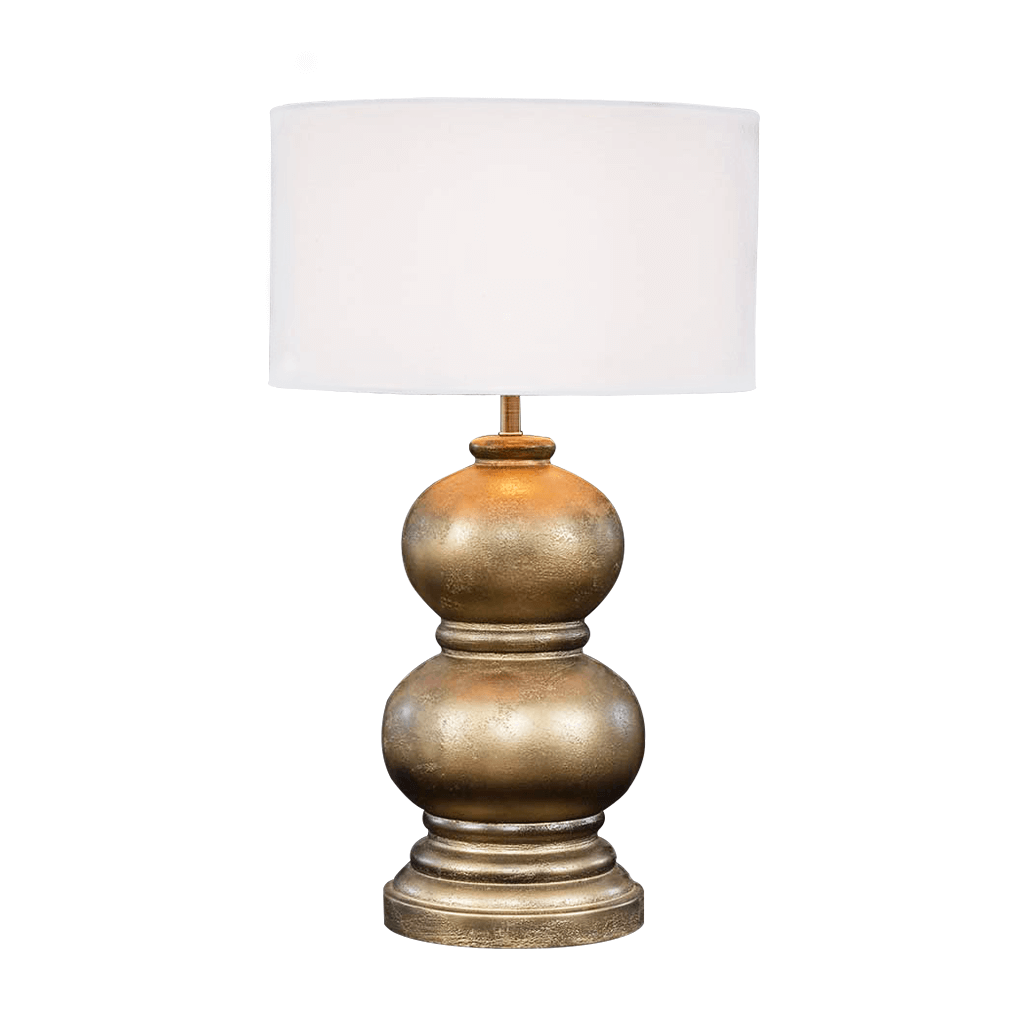 Harvey Resin Gold Lamp | Leather Gallery