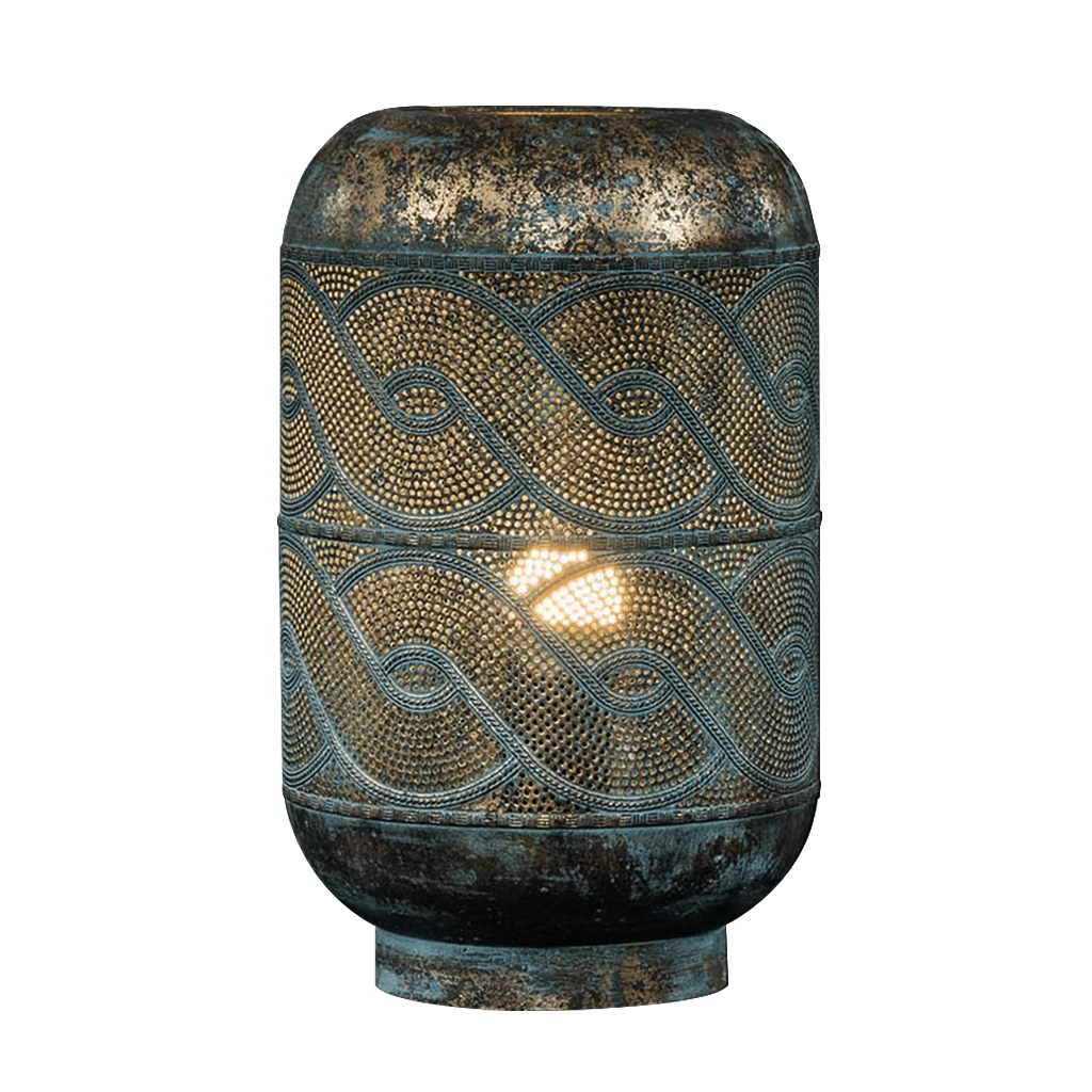Kendari Lantern Table Lamp | Leather Gallery