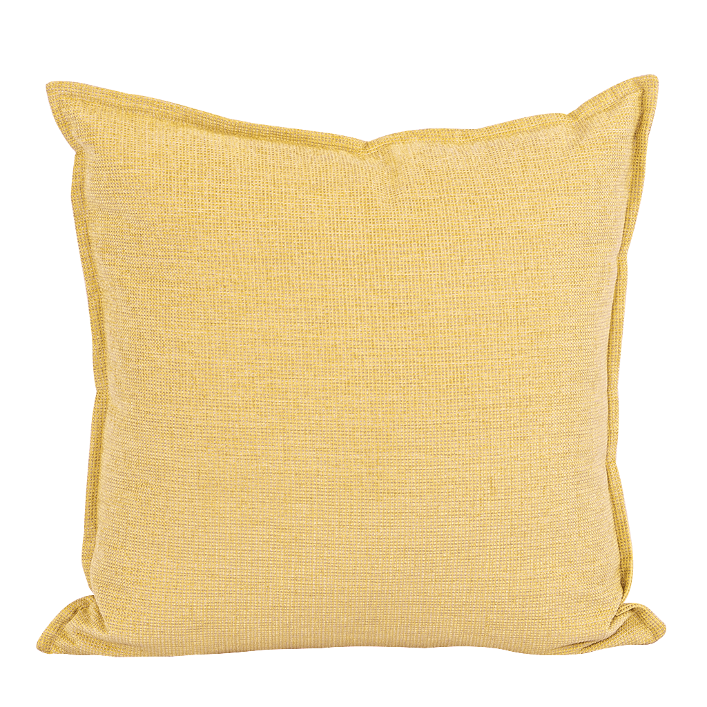 Lemon Yellow Cushion | Leather Gallery