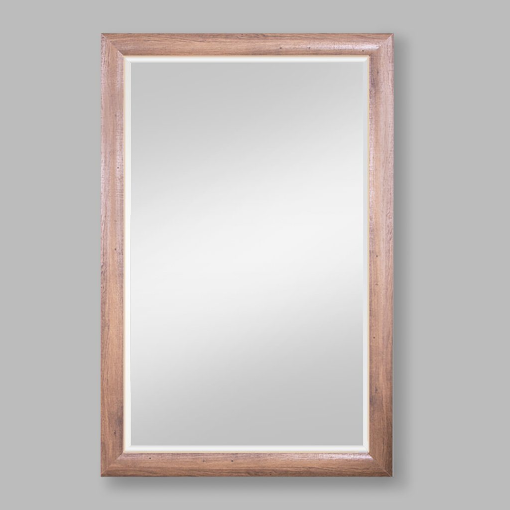 Amelia Bevelled Mirror Wood