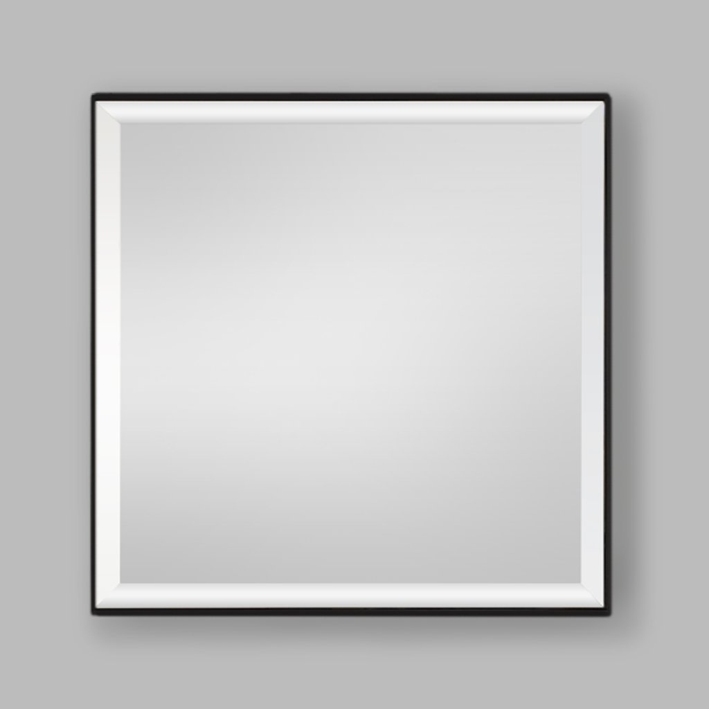 Slater Black Aluminium Mirror | Leather Gallery