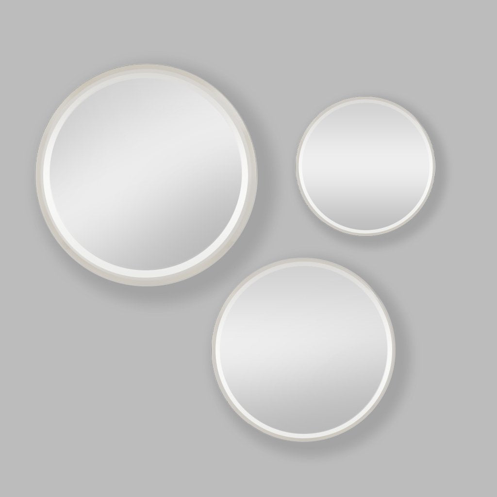 Apollo Mirror Round Silver Set of 3