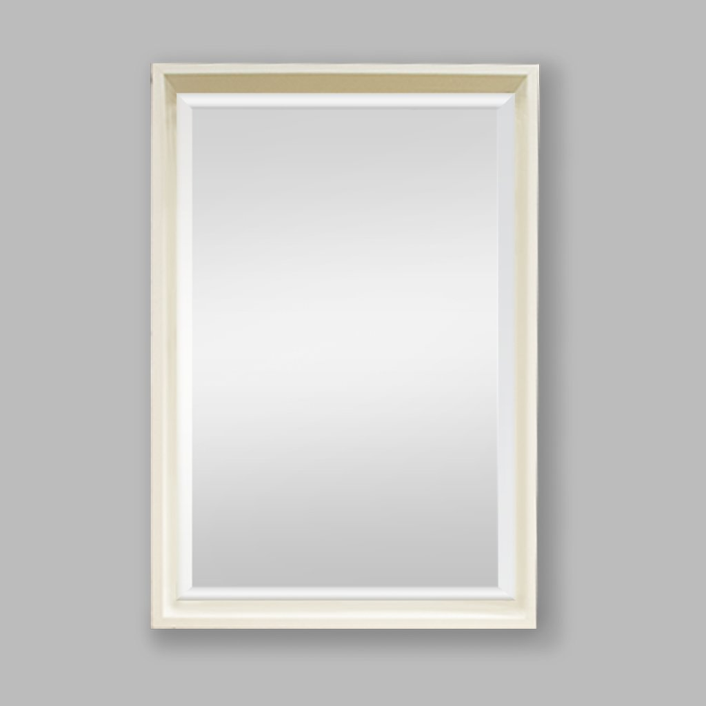 Nova Natural Wood Mirror White | Leather Gallery
