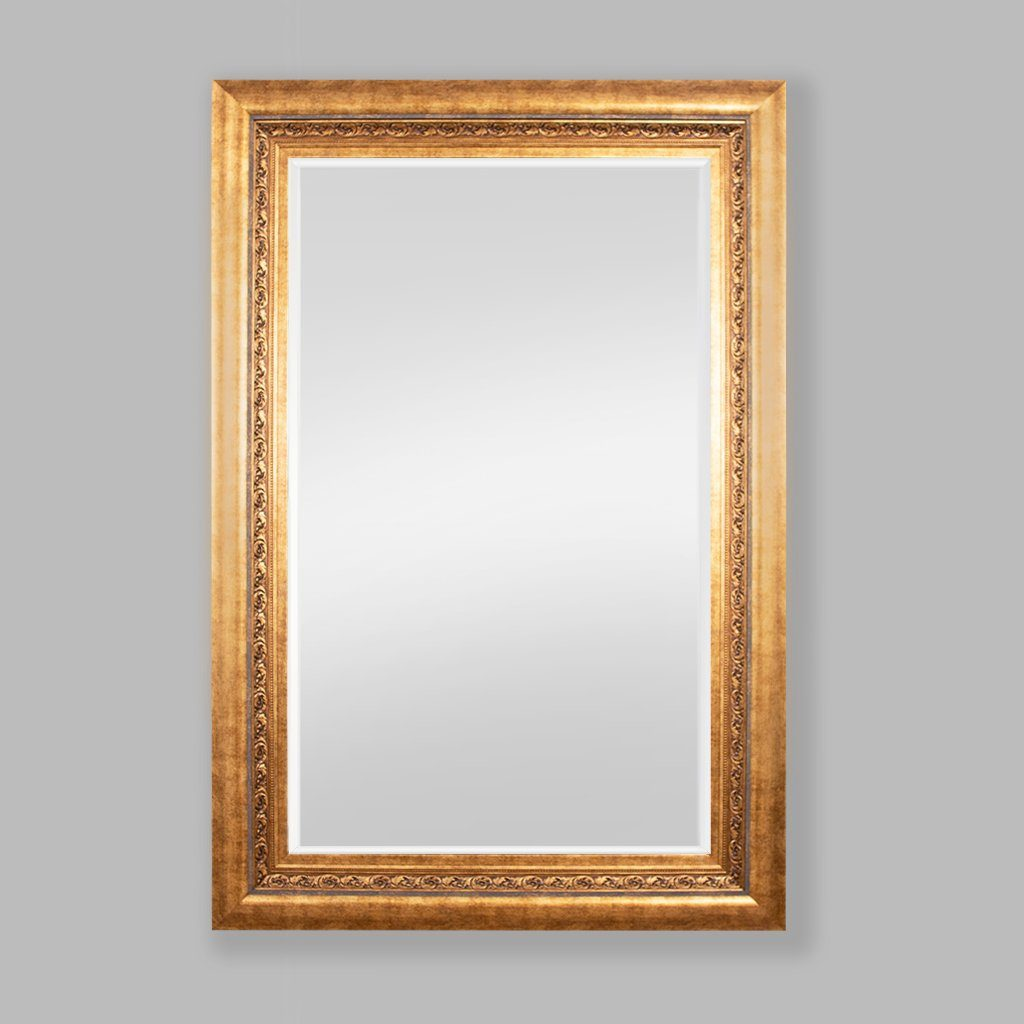 Elizabeth Bevelled Mirror Gold | Leather Gallery