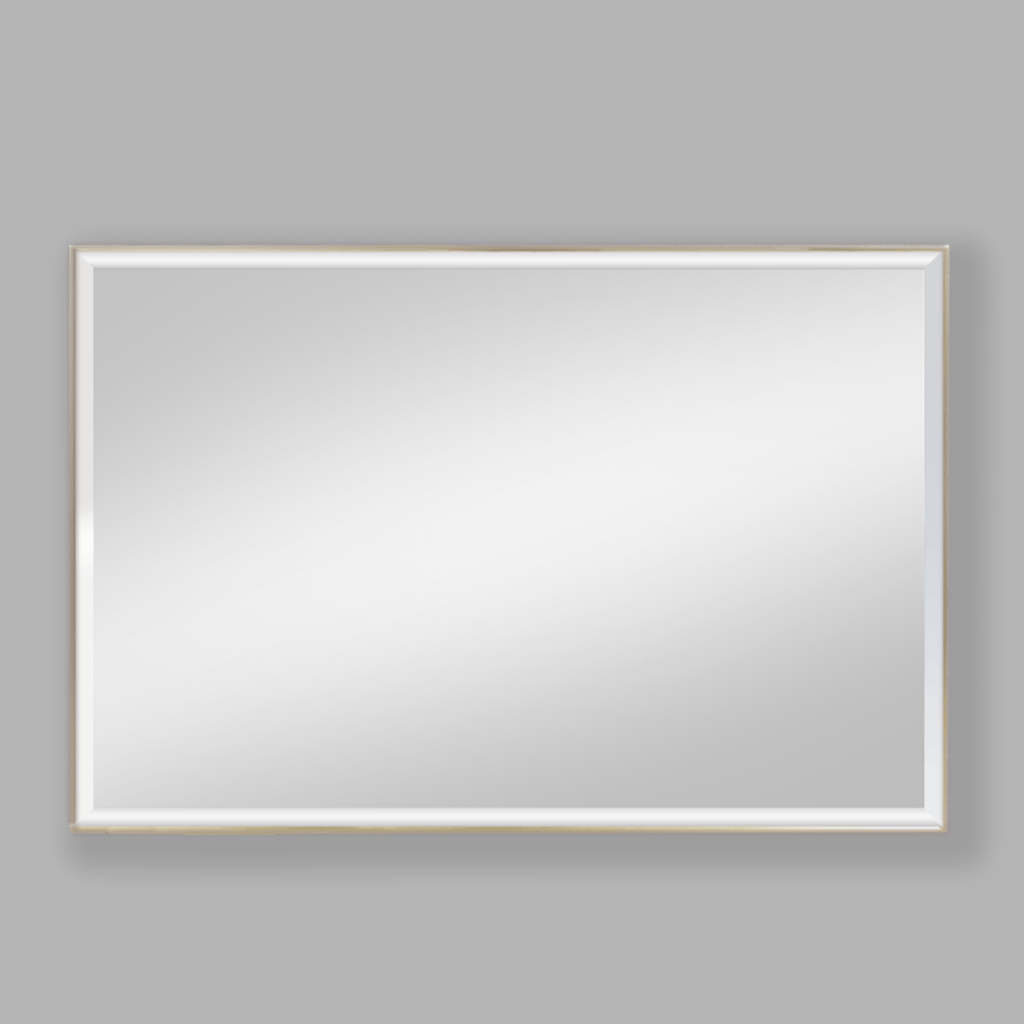 Slater Ivory Beige Aluminium Mirror | Leather Gallery