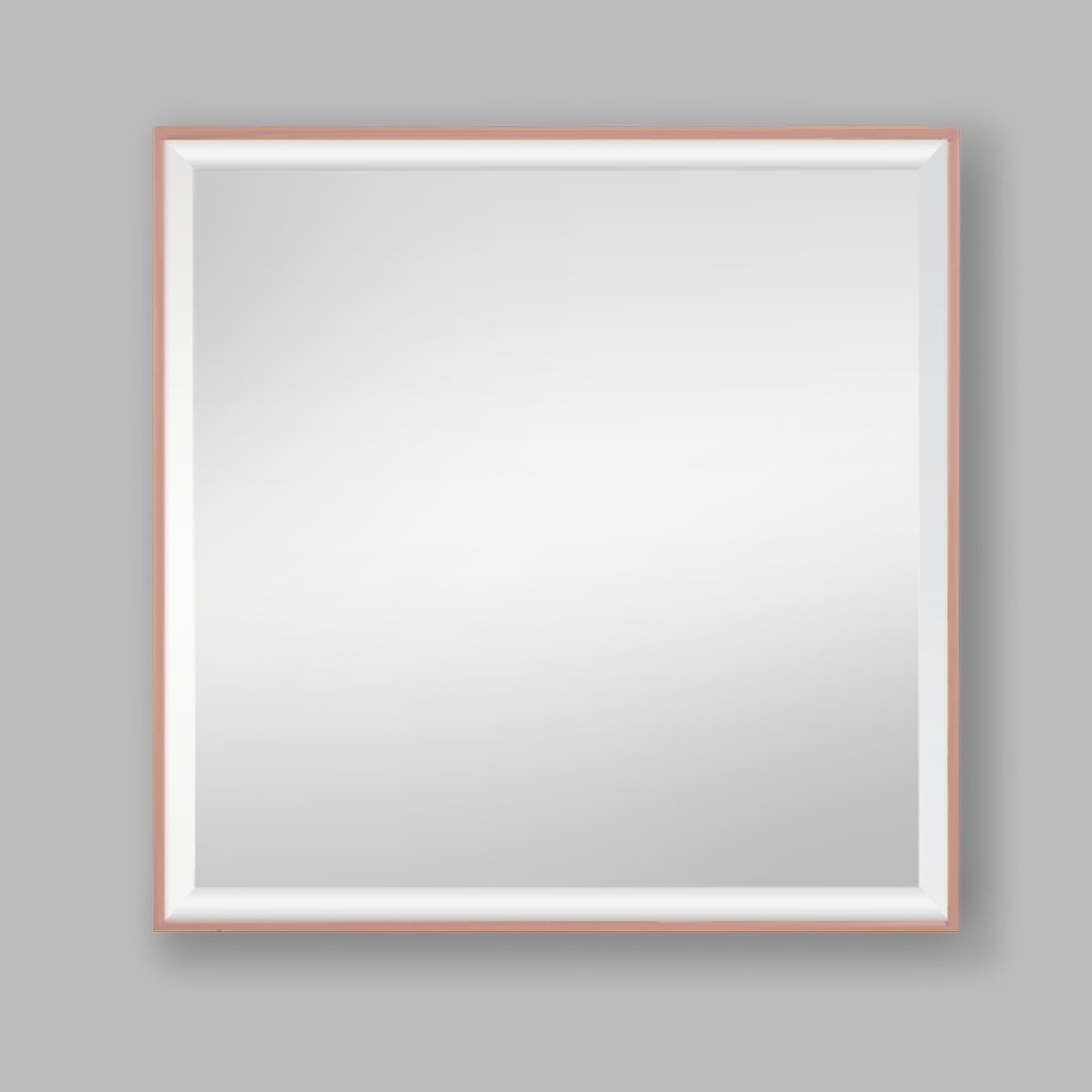 Slater Rose Gold Aluminium Mirror