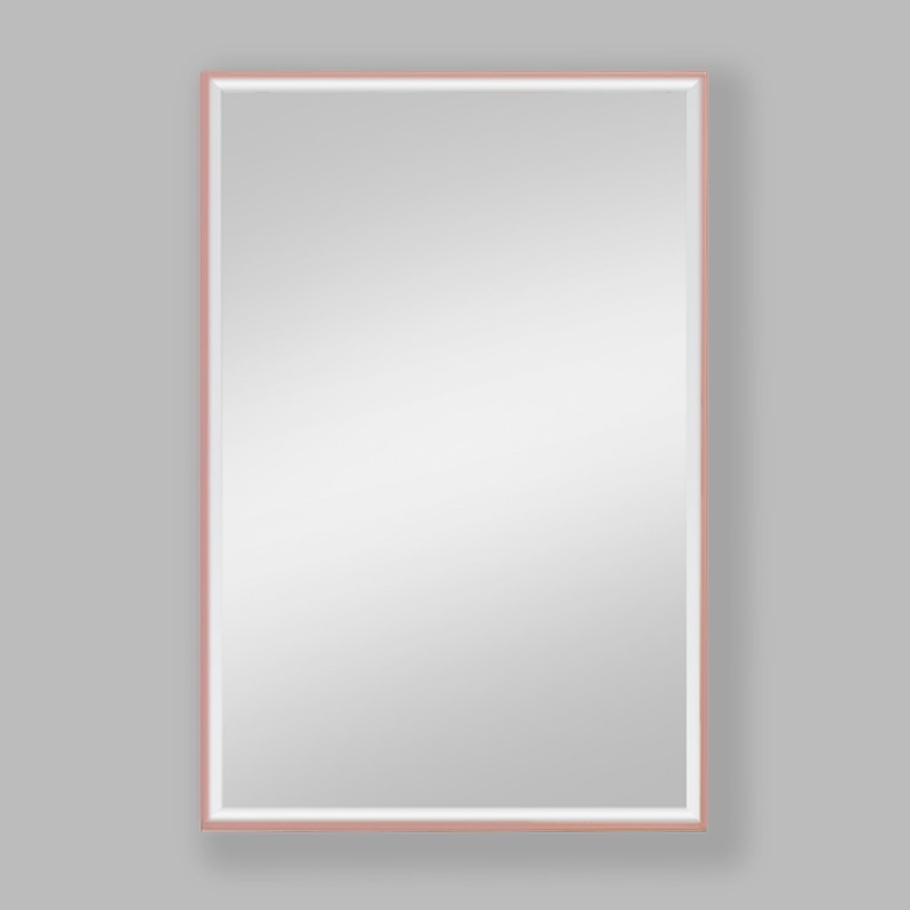 Slater Rose Gold Aluminium Mirror | Leather Gallery