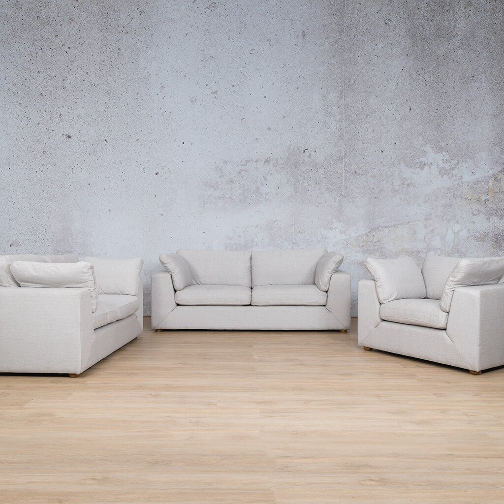 Skye Fabric Corner Couches | 3-2-1 Seater Couches | Oyster-A | Couches For Sale | Leather Gallery Couches