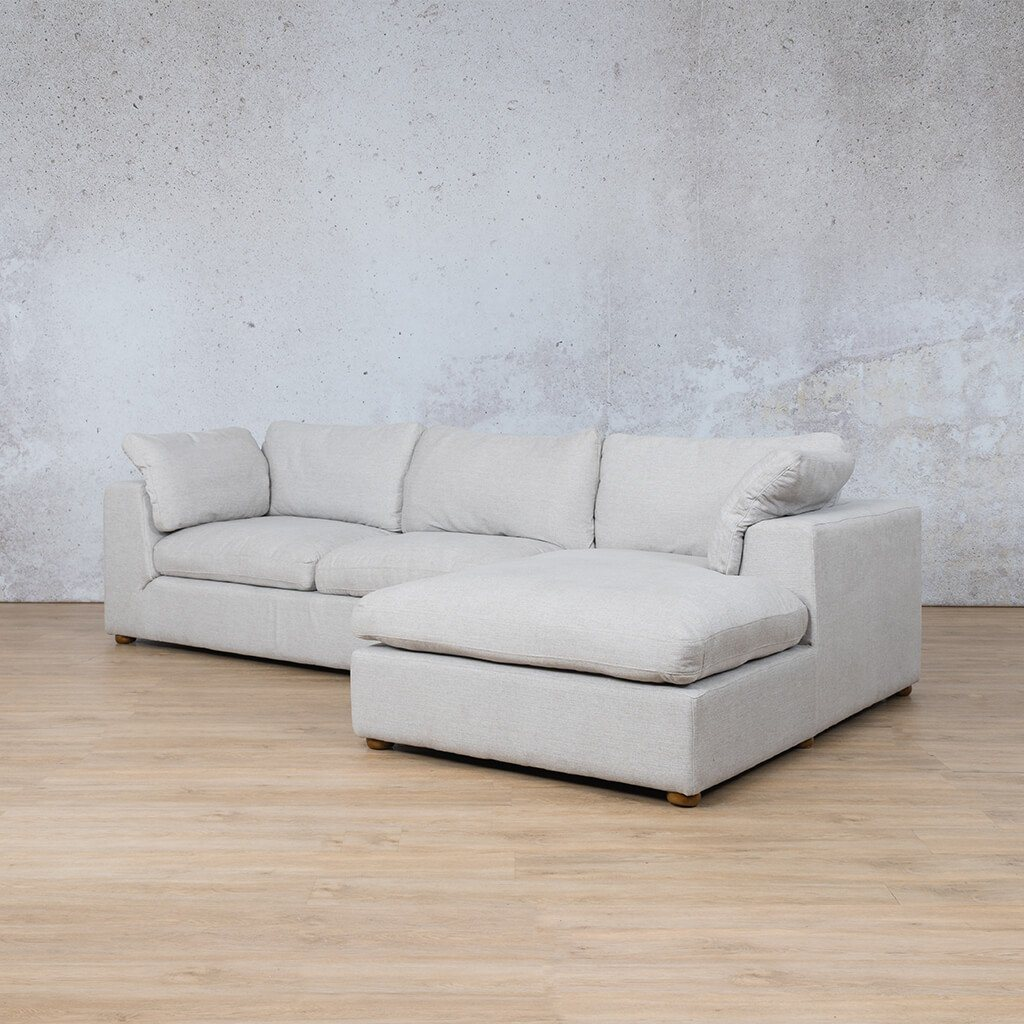 Skye Fabric Corner Couch | Chaise Sectional-RHF | Oyster-A | Front Angled | Couches For Sale | Leather Gallery Couches