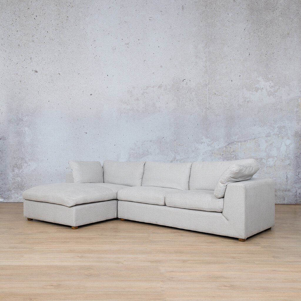 Skye Fabric Corner Couch | Chaise Sectional-LHF | Oyster-A | Front Angled | Couches For Sale | Leather Gallery Couches