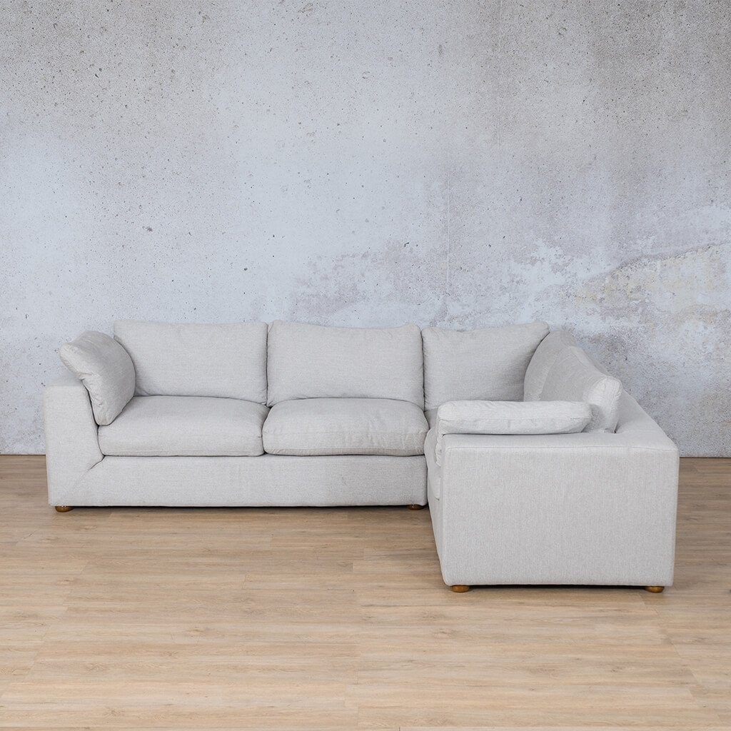 Skye Fabric Corner Couch | L-Sectional 4 Seater-RHF | Oyster-A | Couches For Sale | Leather Gallery Couches