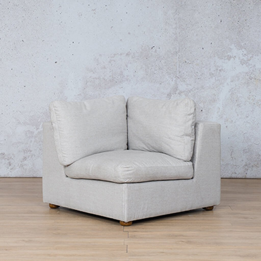 Skye Fabric Corner Couch | 1 Seater Couch | Oyster-A | Couches For Sale | Leather Gallery Couches