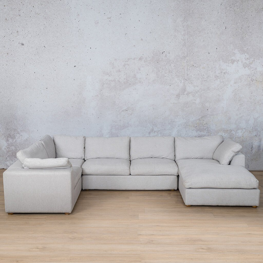 Skye Fabric Corner Couch | U-Sofa Chaise Sectional-RHF | Oyster-A | Couches For Sale | Leather Gallery Couches
