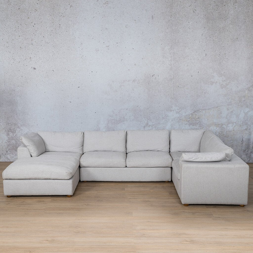 Skye Fabric Corner Couch | U-Sofa Chaise Sectional-LHF | Oyster-A | Couches For Sale | Leather Gallery Couches