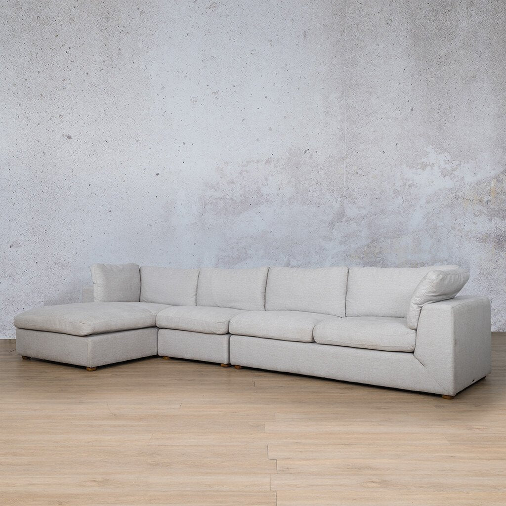 Skye Fabric Corner Couch | Chaise Modular Sectional-LHF | Oyster-A | Front Angled | Couches For Sale | Leather Gallery Couches