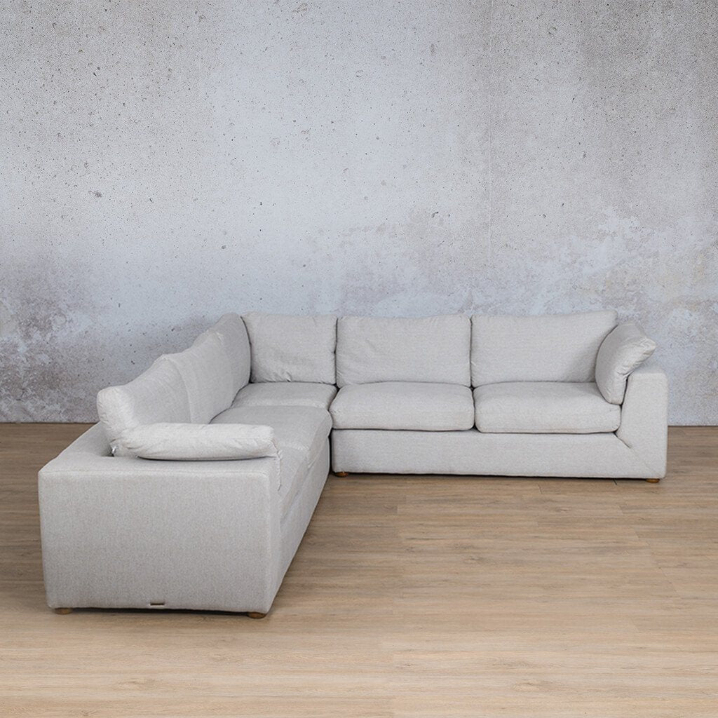 Skye Fabric Corner Couch | L-Sectional 5 Seater | Oyster-A | Couches For Sale | Leather Gallery Couches