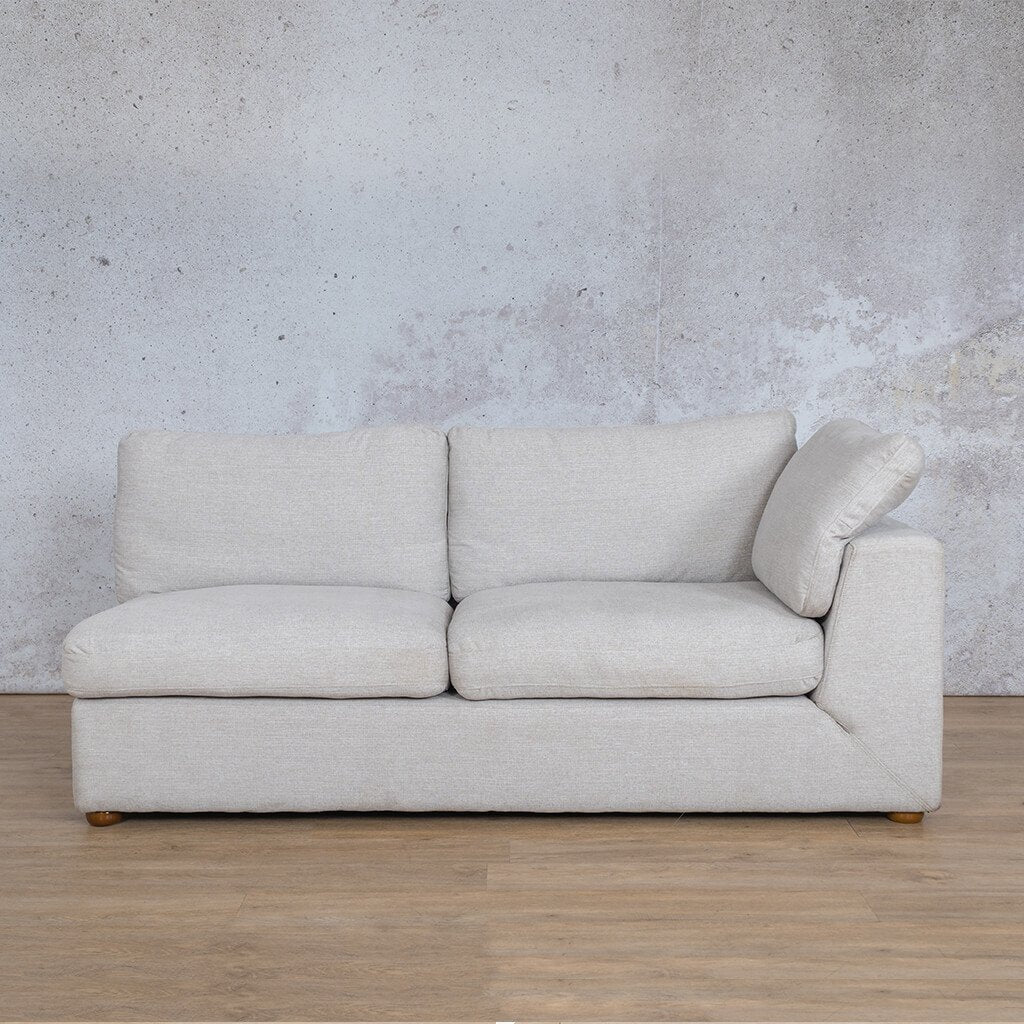 Skye Fabric Corner Couch | 2 Seater Left Arm Couch | Oyster-A | Couches For Sale | Leather Gallery Couches