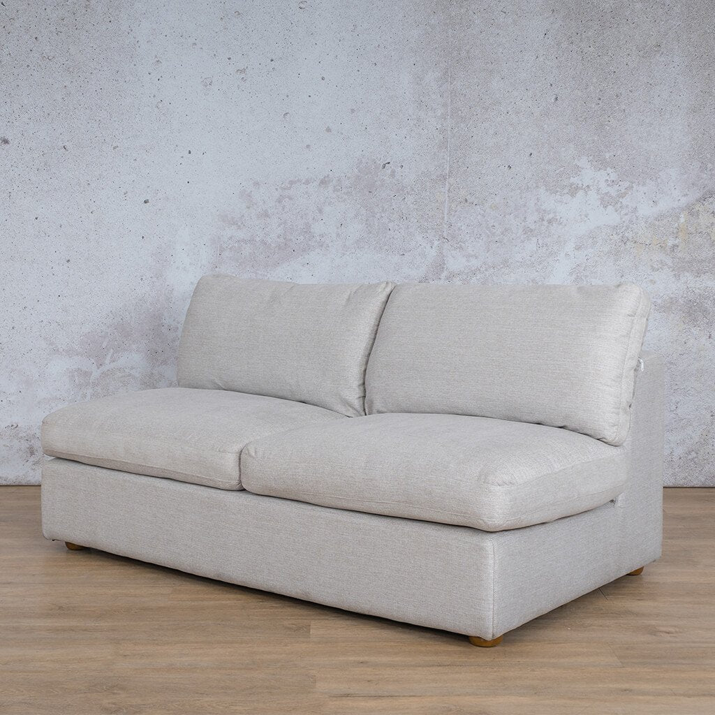 Skye Fabric Corner Couch | Armless 2 Seater Couch | Oyster-A | Front Angled | Couches For Sale | Leather Gallery Couches