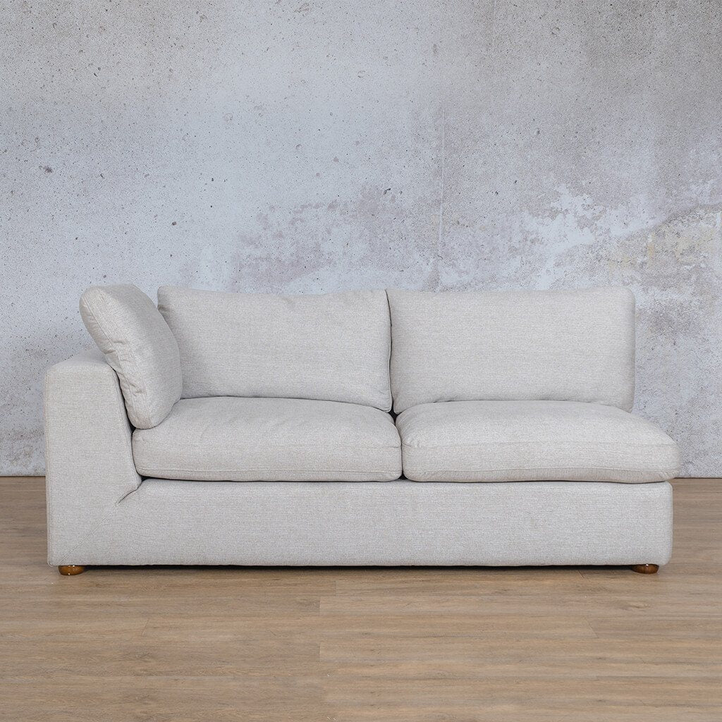 Skye Fabric Corner Couch | 2 Seater Right Arm Couch | Oyster-A | Couches For Sale | Leather Gallery Couches