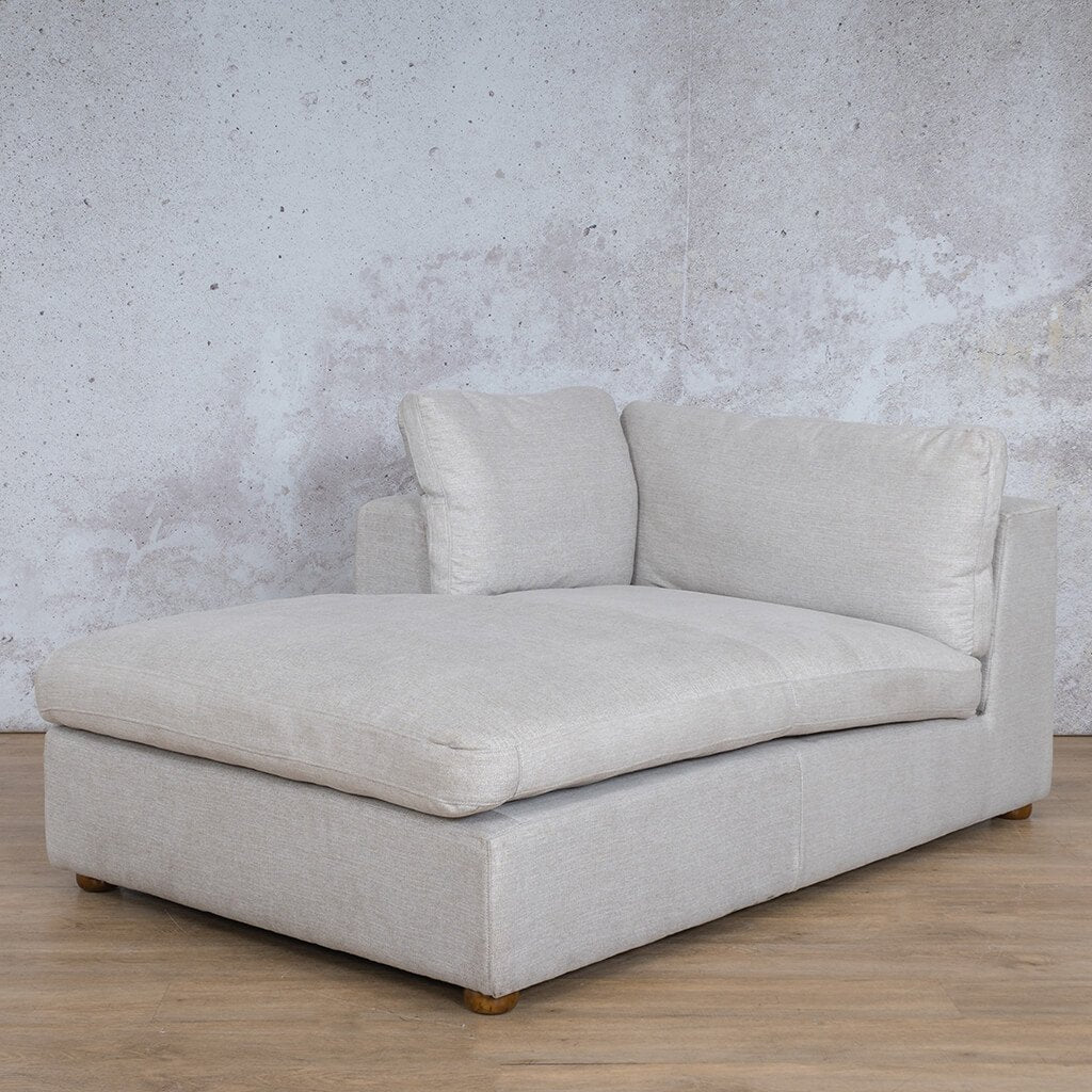 Salisbury Fabric Corner Couch | Chaise Right Arm | Oyster-A | Front Angled | Couches For Sale | Leather Gallery Couches