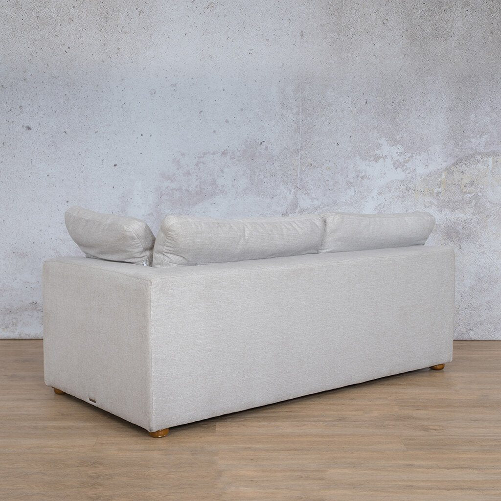 Skye Fabric Corner Couch | 2 Seater Left Arm Couch | Oyster-A | Back Angled | Couches For Sale | Leather Gallery Couches