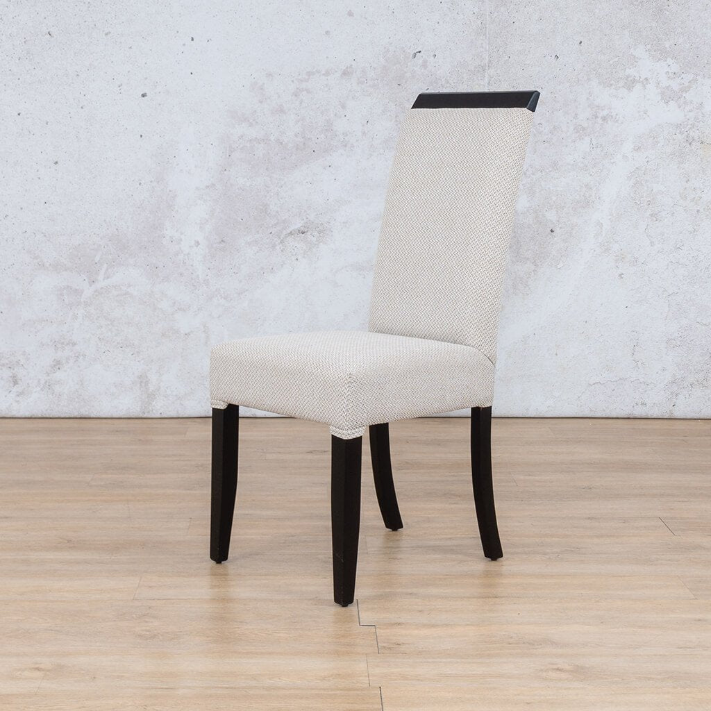 Urban Dining Chair | 1 Seater Dining Chair | Oyster | Front Angled | Dining sets for Sale | Wood | Leather Gallery Dining Sets