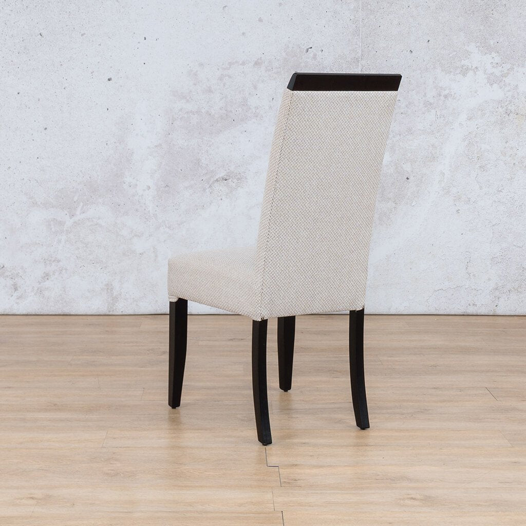 Urban Dining Chair | 1 Seater Dining Chair | Oyster | Back Angled | Dining sets for Sale | Wood | Leather Gallery Dining Sets