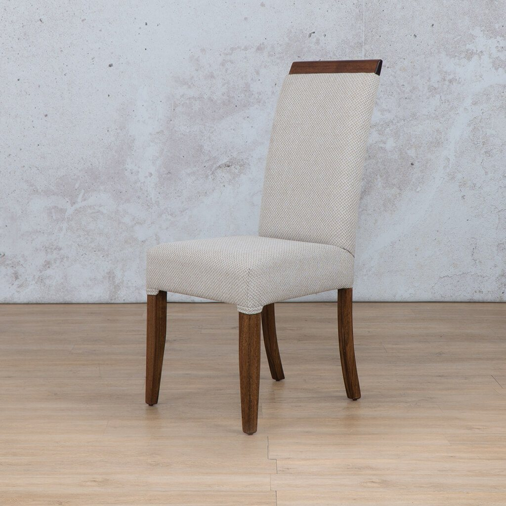 Hampton Dining Chair | 1 Seater Dining Chair | Front Angled | Dining sets for Sale | Wood | Leather Gallery Dining Sets