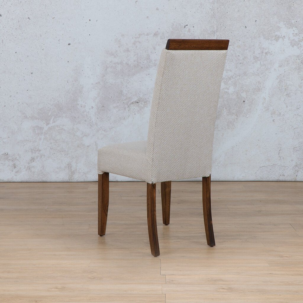 Hampton Dining Chair | 1 Seater Dining Chair | Back Angled | Dining sets for Sale | Wood | Leather Gallery Dining Sets