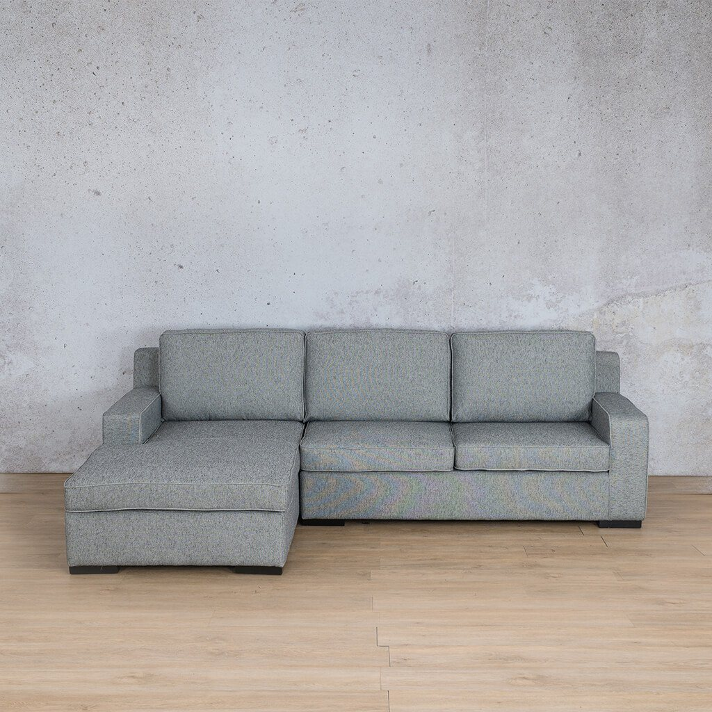 Arizona Fabric Corner Couch | Sofa Sectional-LHF | Quarry Black and White | Couches For Sale | Leather Gallery Couches