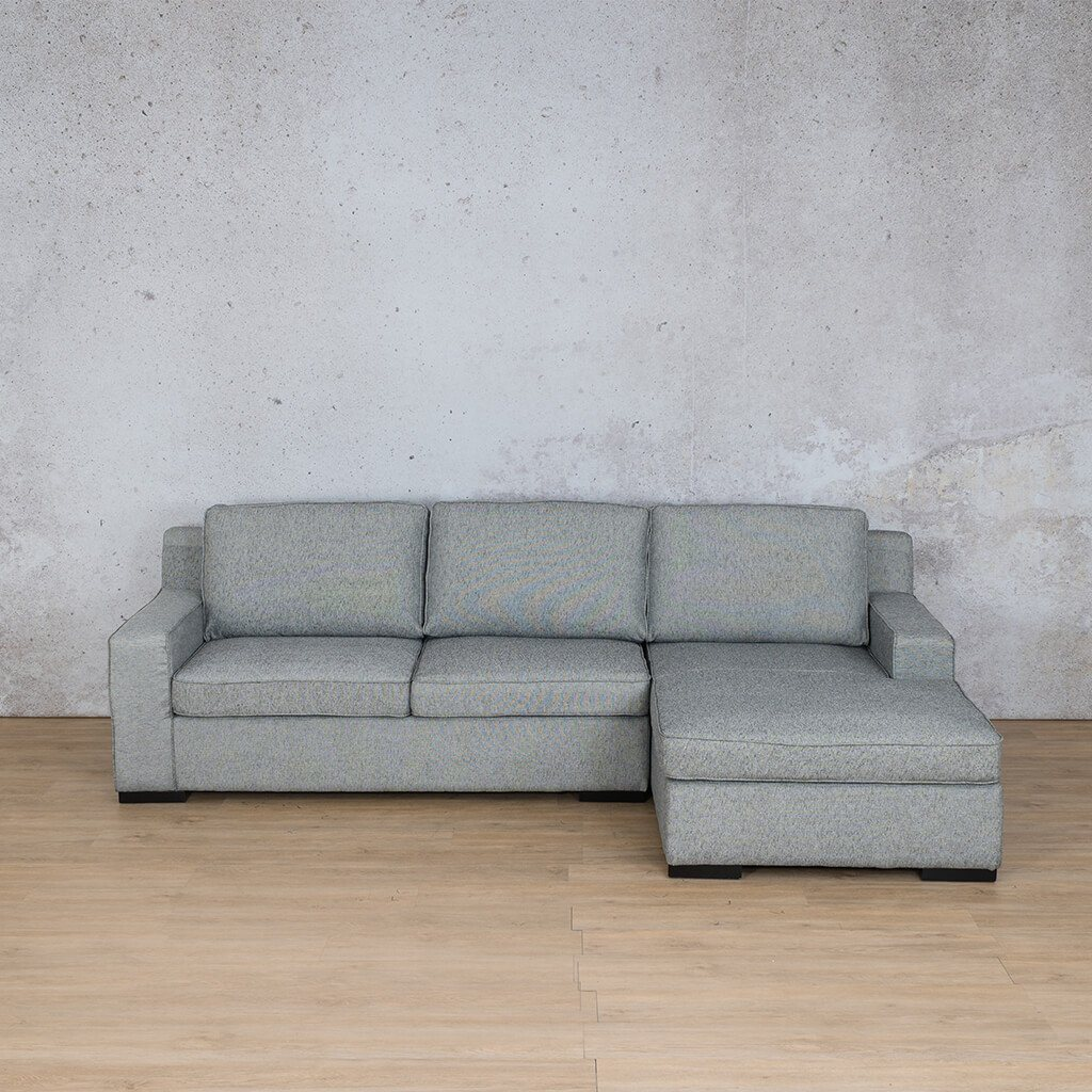 Arizona Fabric Corner Couch | Sofa Sectional-RHF | Quarry Black and White | Couches For Sale | Leather Gallery Couches