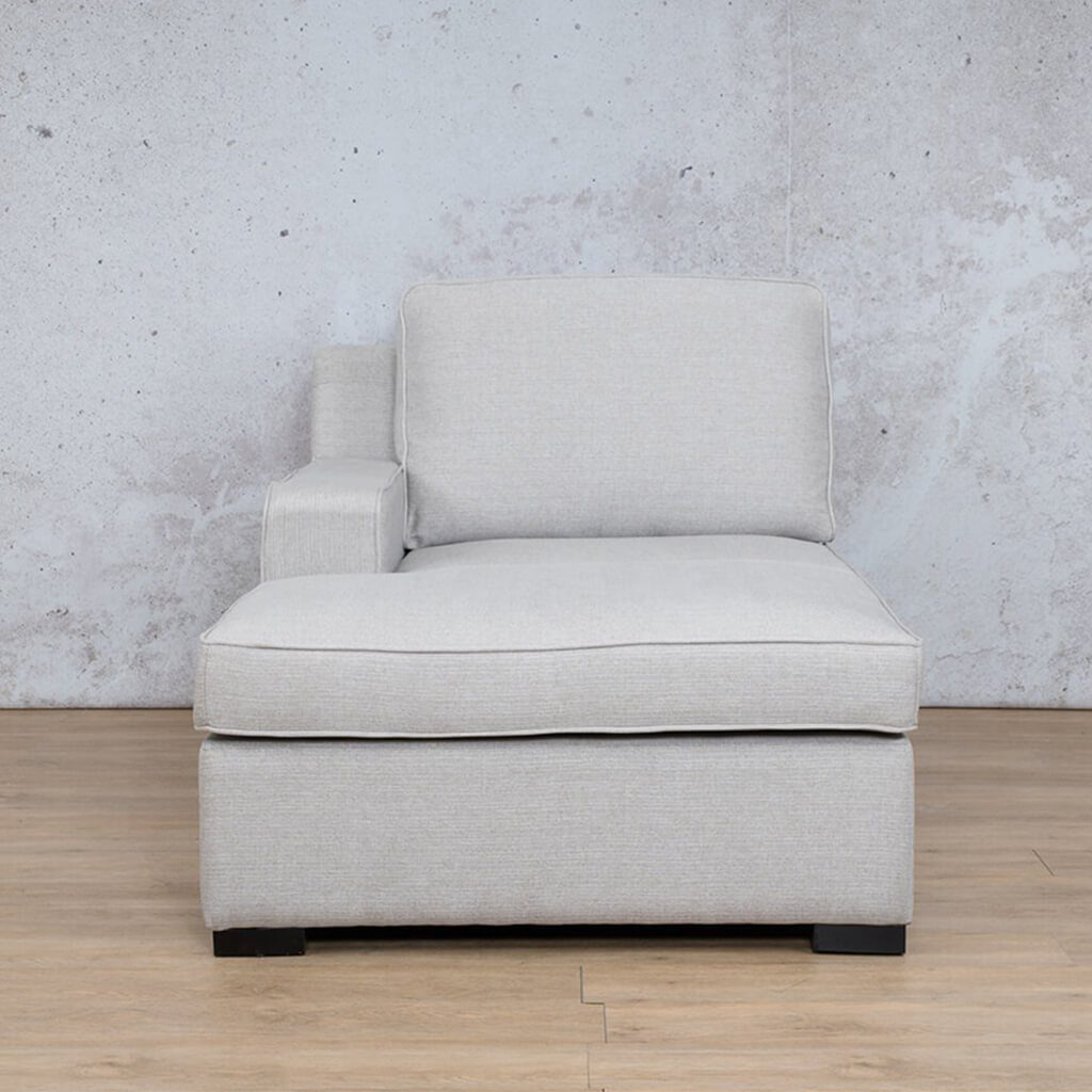 Arizona Fabric | Right Arm Chaise | Oyster | Leather Gallery