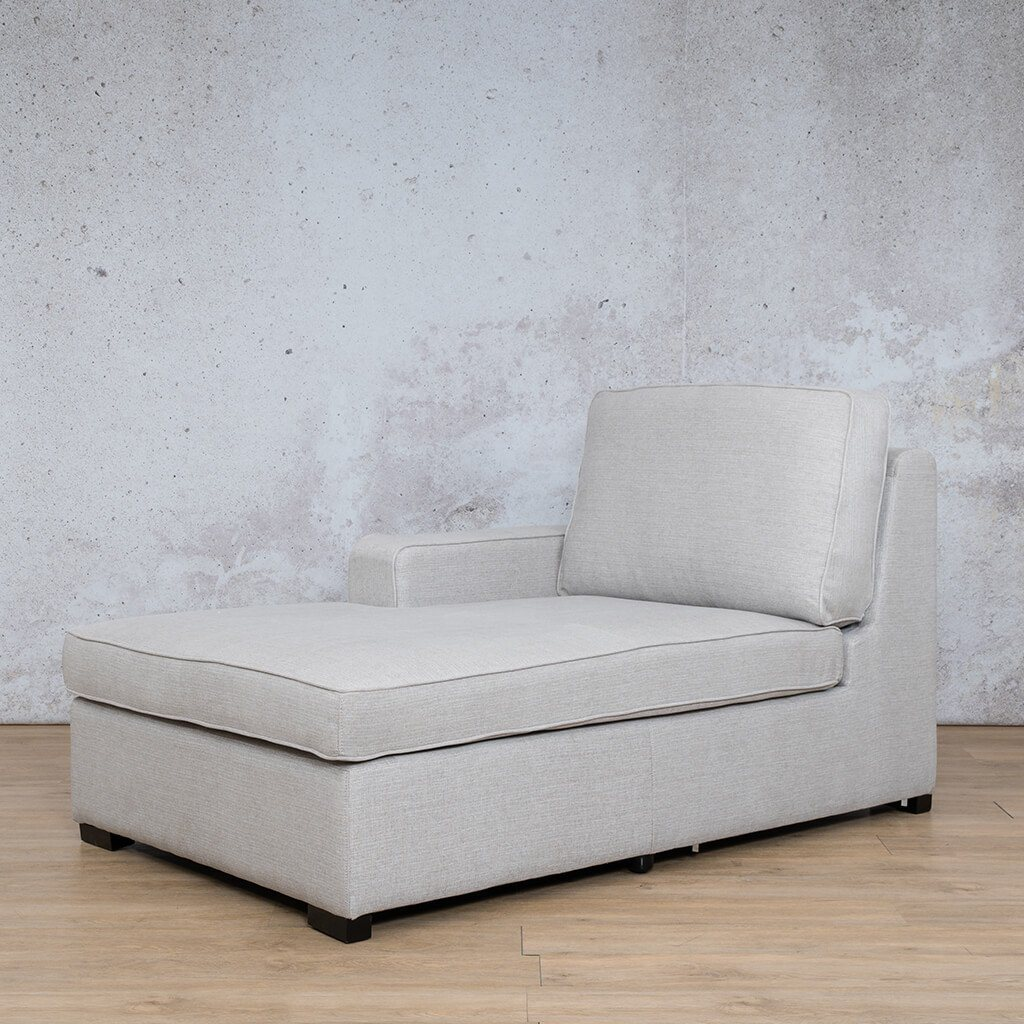 Arizona Fabric | Right Arm Chaise Angled | Oyster | Leather Gallery
