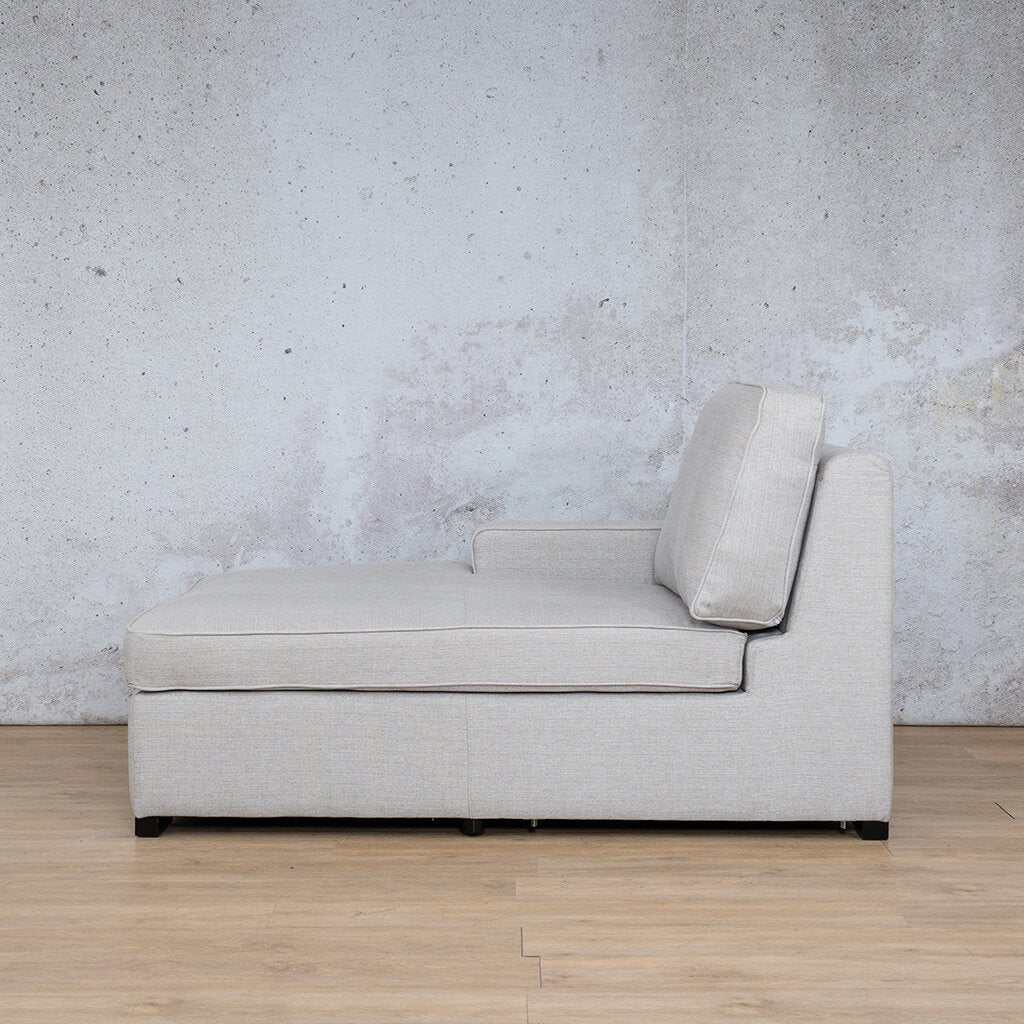 Arizona Fabric | Right Arm Chaise Left Side | Oyster | Leather Gallery