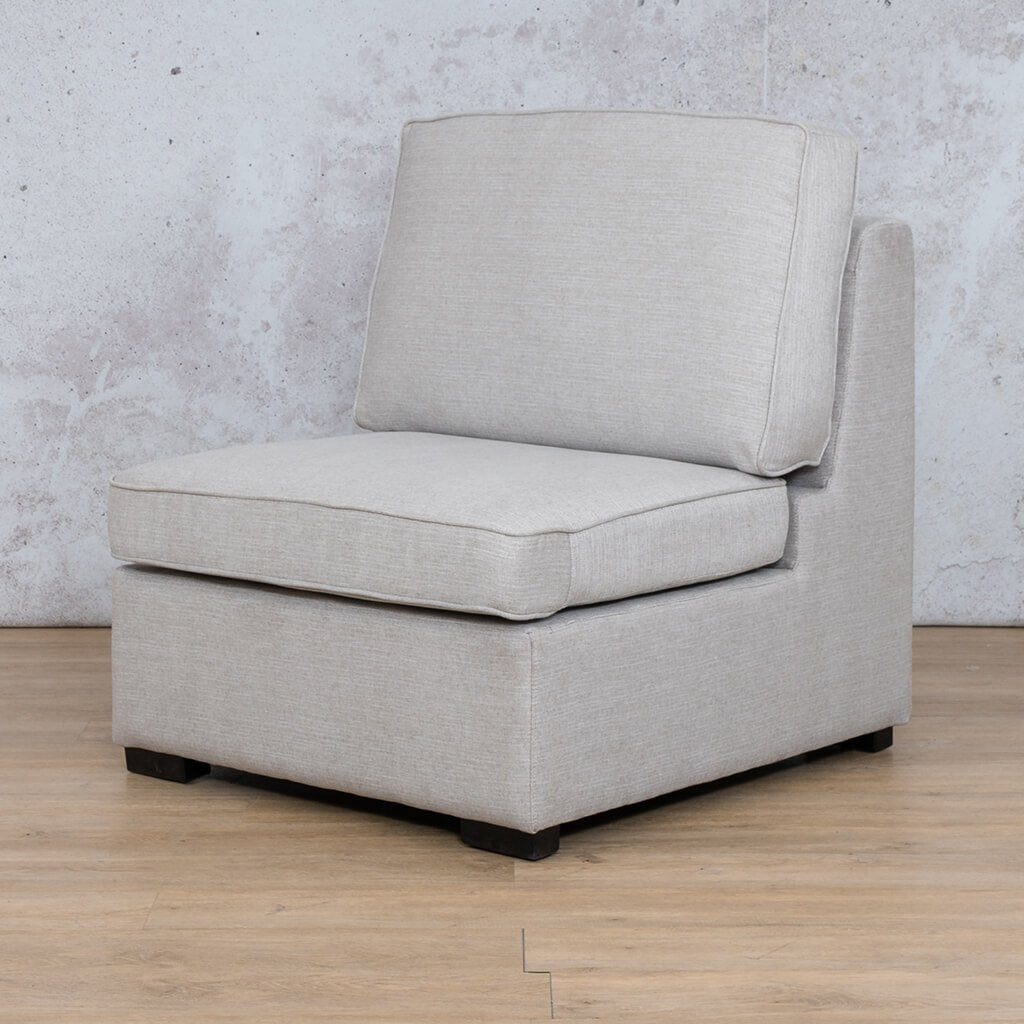 Arizona Fabric | Armless Chair Angled | Oyster | Leather Gallery