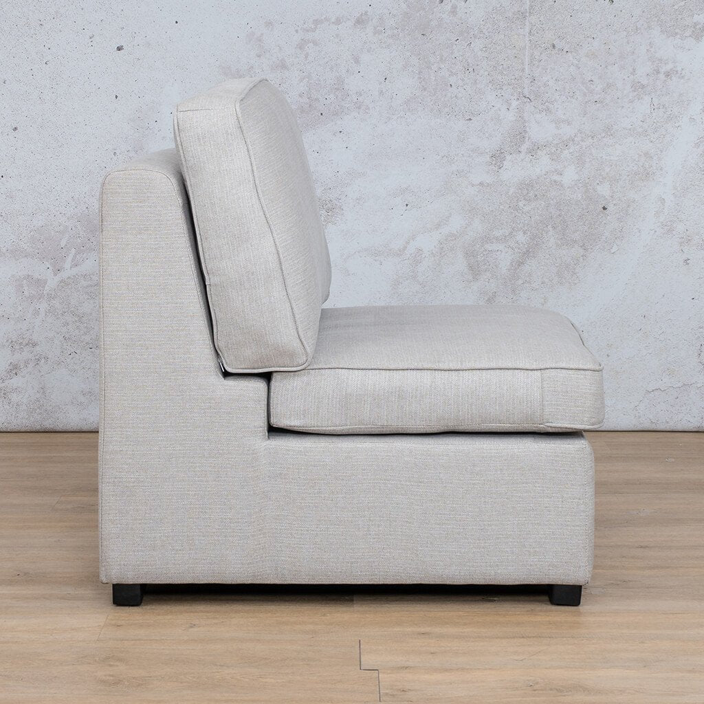 Arizona Fabric | Armless Chair Side | Oyster | Leather Gallery