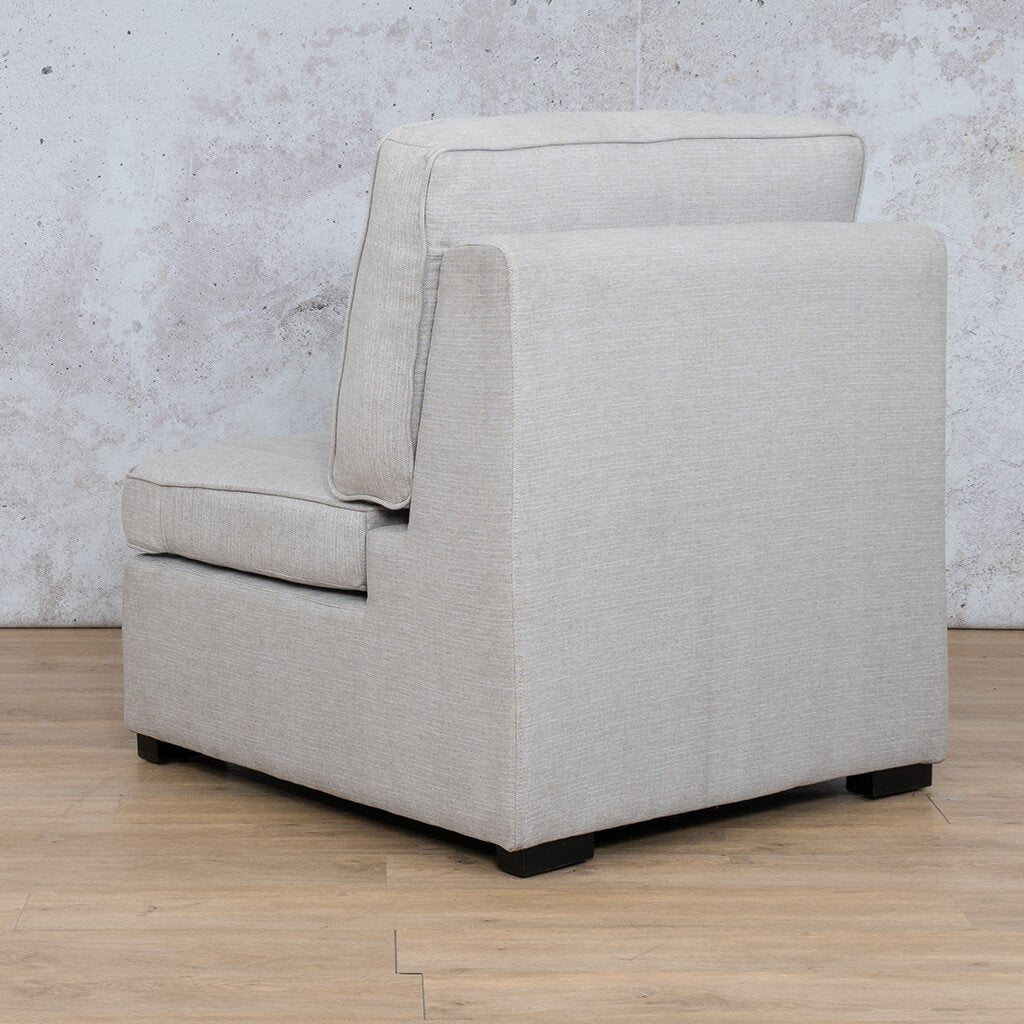Arizona Fabric | Armless Chair Angled Back | Oyster | Leather Gallery
