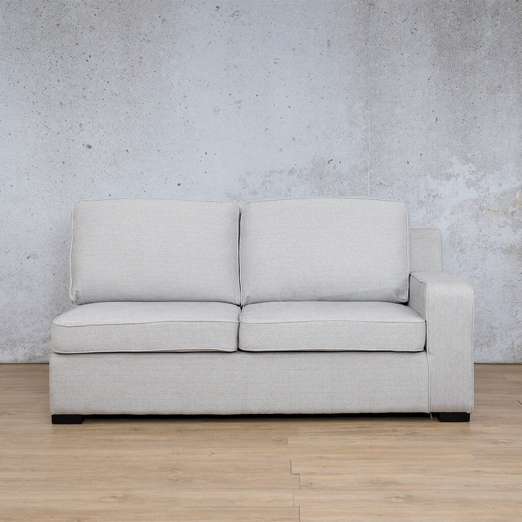 Arizona Fabric | 2 Seater Left Arm | Oyster | Leather Gallery