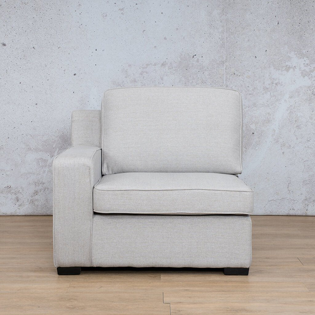 Arizona Fabric | 1 Seater Right Arm | Oyster | Leather Gallery