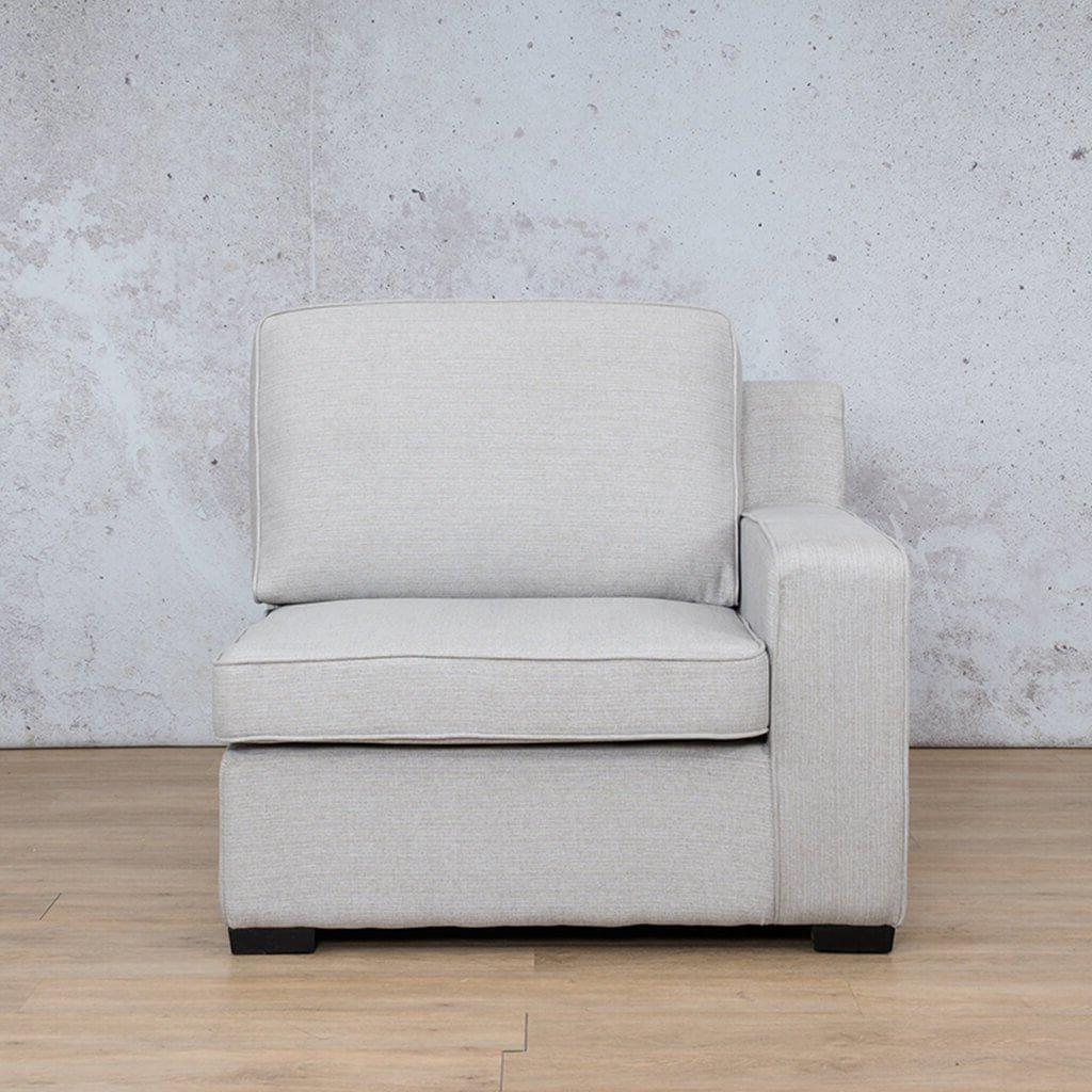 Arizona Fabric | 1 Seater Left Arm | Oyster | Leather Gallery