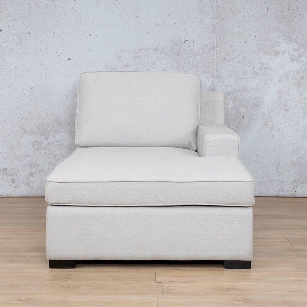 Arizona Fabric | Left Arm Chaise | Oyster | Leather Gallery