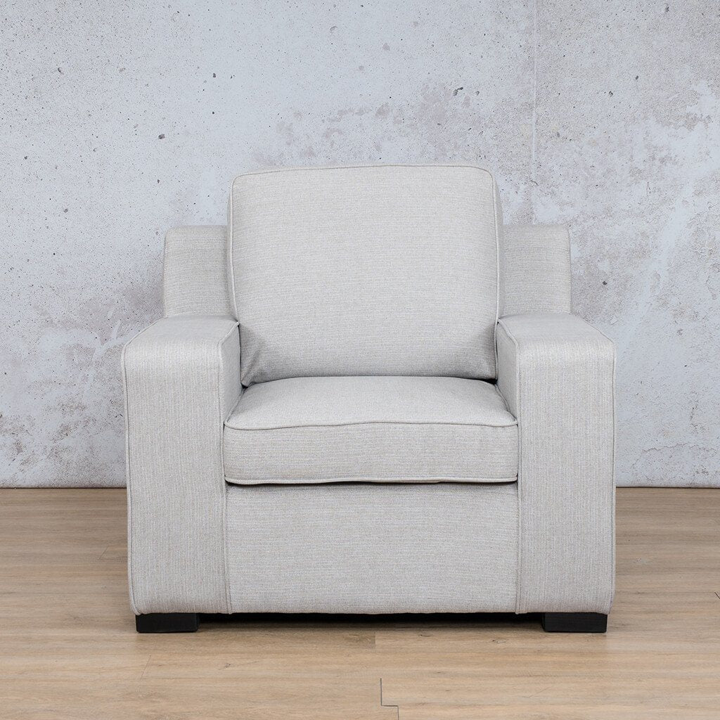 Arizona Fabric | 1 Seater | Oyster | Leather Gallery