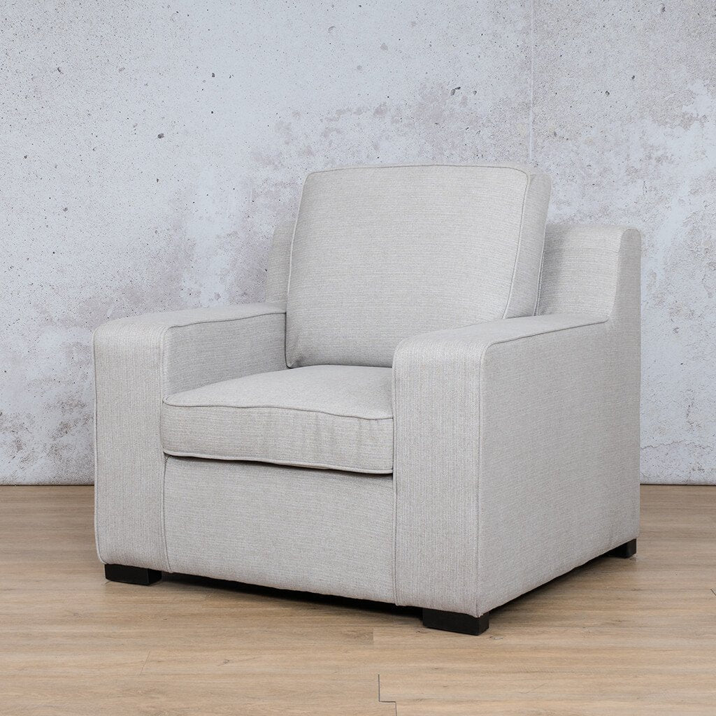 Arizona Fabric | 1 Seater Angled | Oyster | Leather Gallery