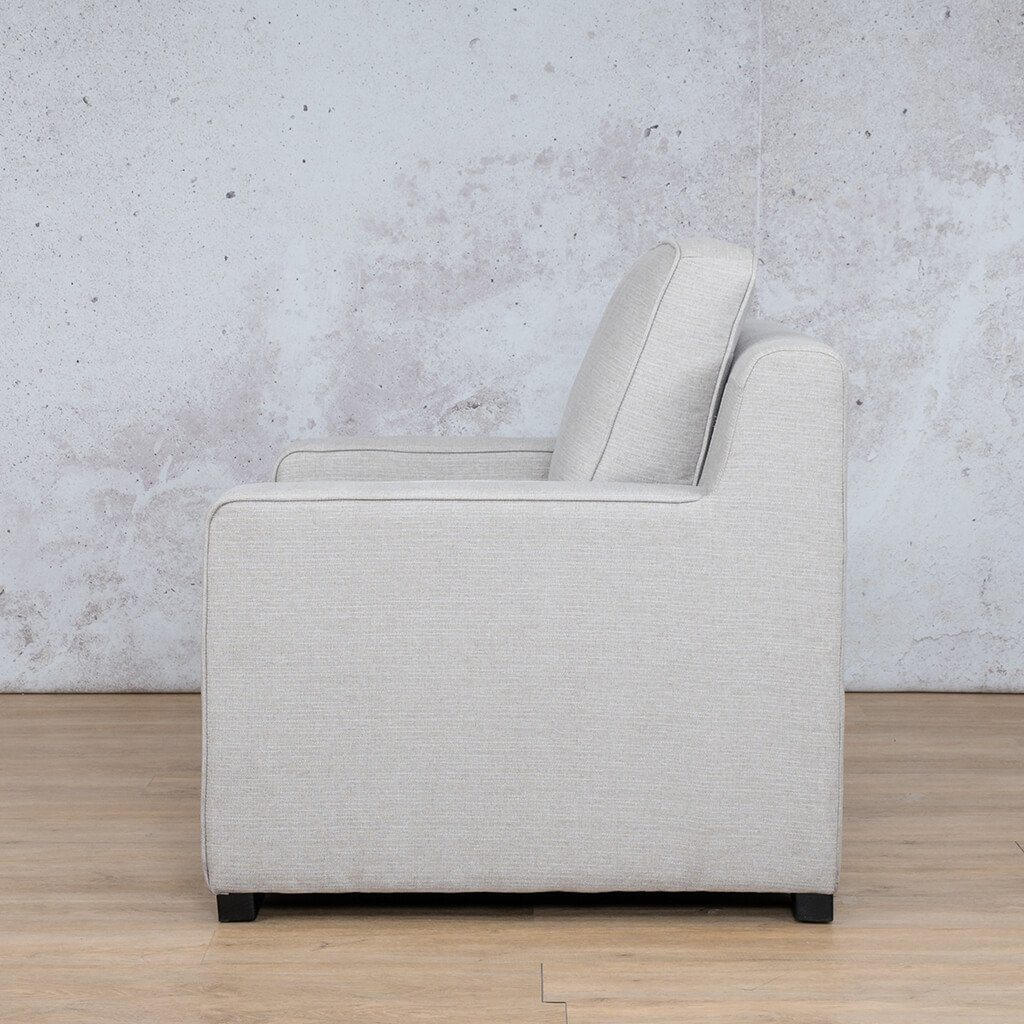 Arizona Fabric | 1 Seater Left Side | Oyster | Leather Gallery