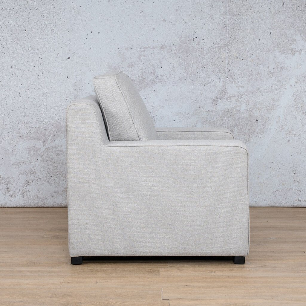 Arizona Fabric | 1 Seater Right Side | Oyster | Leather Gallery