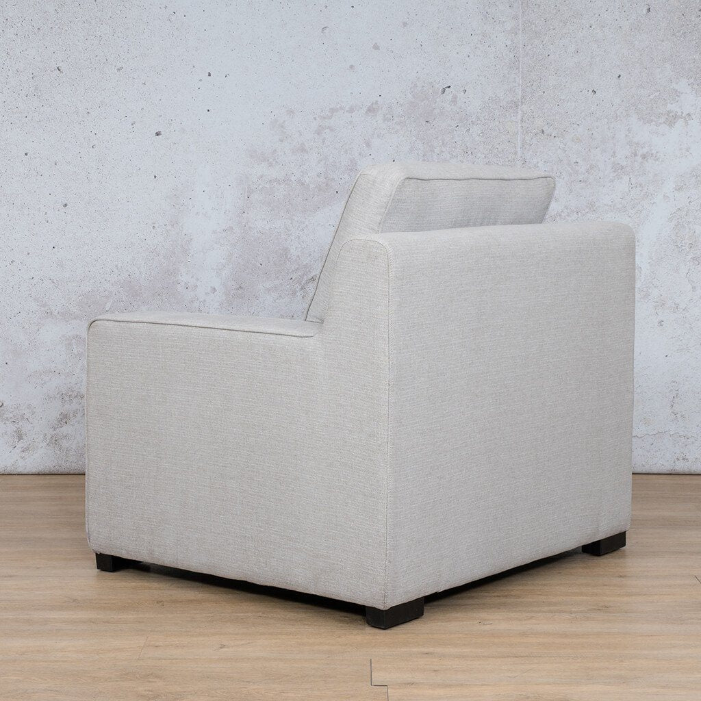 Arizona Fabric | 1 Seater Angled Back | Oyster | Leather Gallery